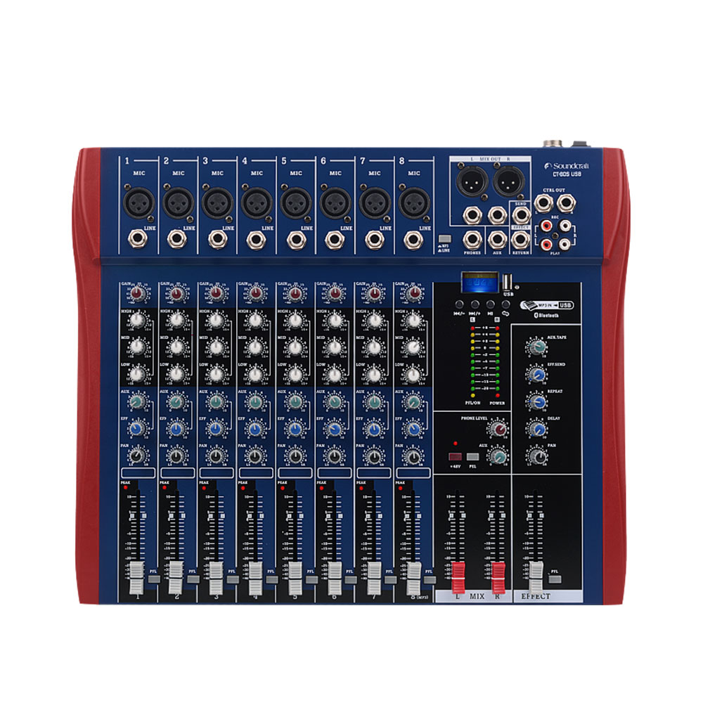 Professional dj mixing console 8 channels