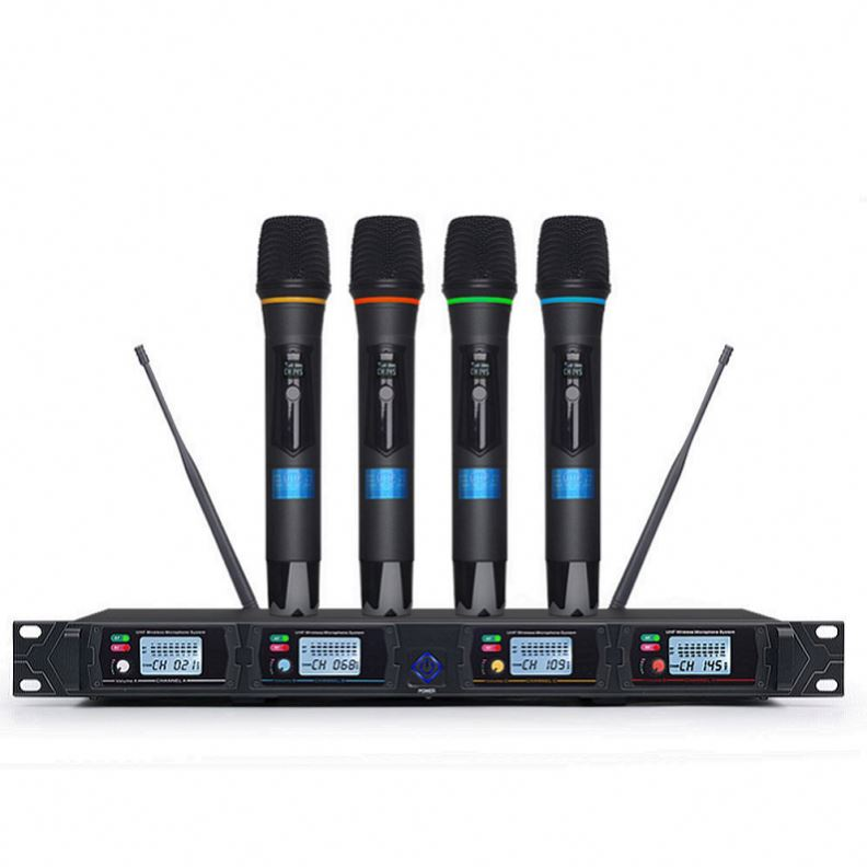 Tiwa UHF 4 channels wireless microphone system for stage KTV personal show