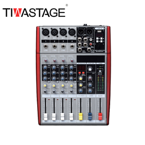 Tiwastage 4 channel audio mixer DJ mixing console