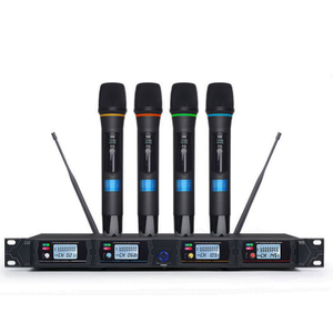 Tiwa High Quality Professional Handheld UHF 4 channels Wireless Microphone for Karaoke System