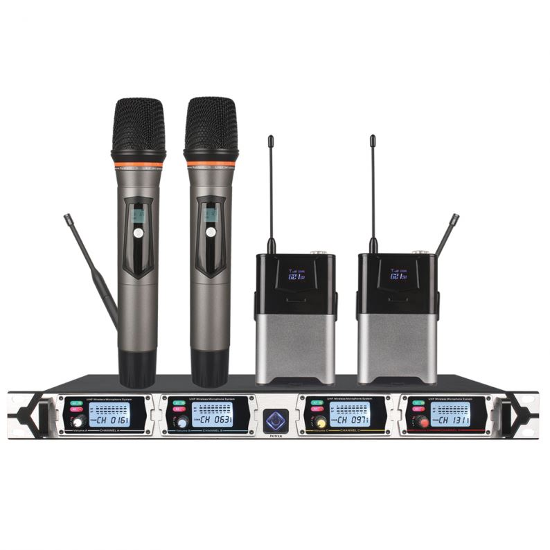 Tiwa Professional Four Channel UHF Wireless Microphone handheld microphone headset microphone